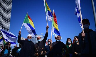Hundreds of Druze and Circassians protesters block off Azrieli Junction