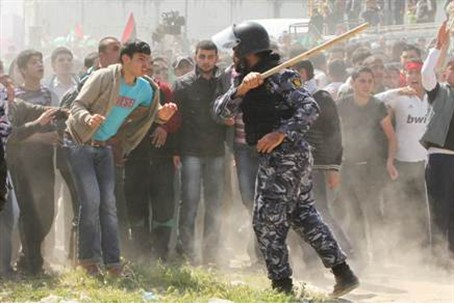 Hamas forces prevent Palestinian protesters f