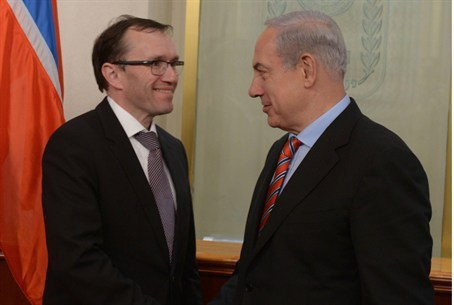 Netanyahu and Norwegian FM Espen Barth Eide