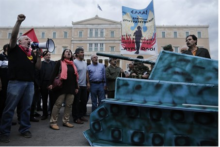 Golden Dawn MP Shouts 'Heil Hitler'