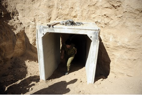 Entrance of previous tunnel uncovered by IDF