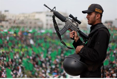 Hamas rally in Gaza (file)