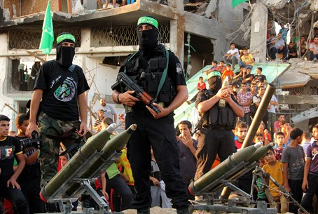 Hamas terrorists in Gaza (file)