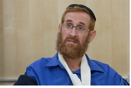 Yehuda Glick following his attempted assassination