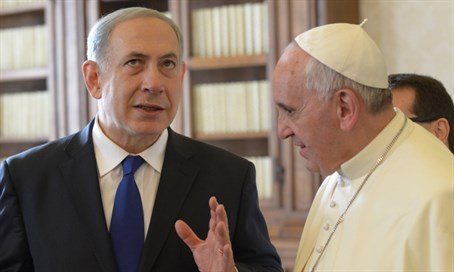 Pope Francis and Prime Minister Binyamin Netanyahu at the Vatican