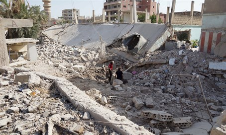 Aftermath of barrel bomb attack in Syria