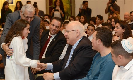 President Rivlin and child victims of terrorism