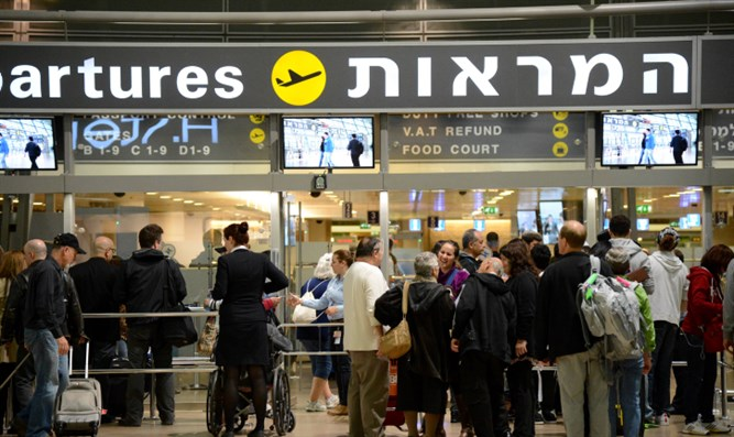 Tourists at Ben-Gurion airport