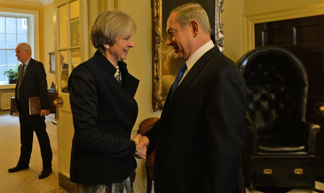 British Prime Minister Theresa May and PM Binyamin Netanyahu