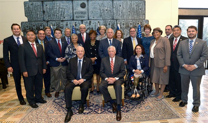President Rivlin meets with US Democrats in Jerusalem