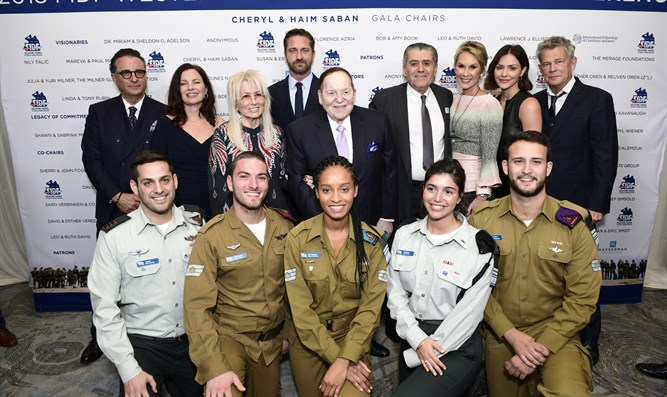 IDF soldiers with event organizers
