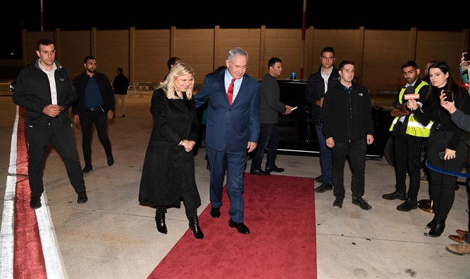 Netanyahu departing fro Paris