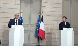 Macron to Rivlin: France very concerned by Iranian nuclear issue