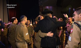 Watch: Haredim in US celebrate completion of Talmud with haredi IDF soldiers