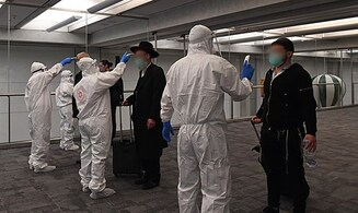 From the airplane into quarantine: Returning citizens processed at airport