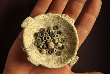 Beads found at archaeological site
