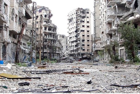 Destruction in Homs (archive)