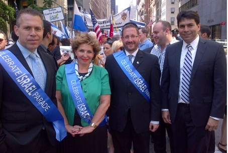Israeli MKs at Israel Day Parade in New York