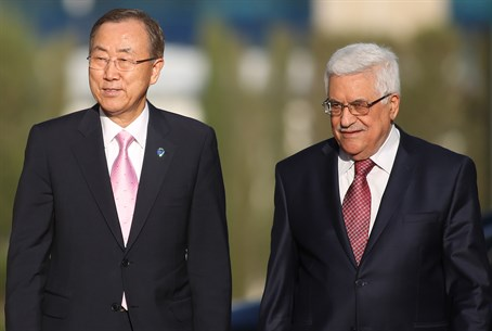 Ban Ki-Moon and Mahmoud Abbas