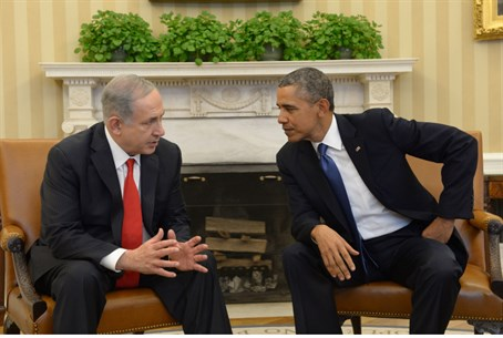 Netanyahu, Obama in the Oval Office