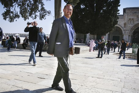 Yehuda Glick on the Temple Mount (file)