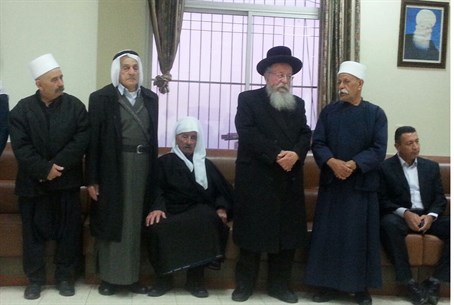 MK Meir Porush with Druze dignitaries at the Seif's home