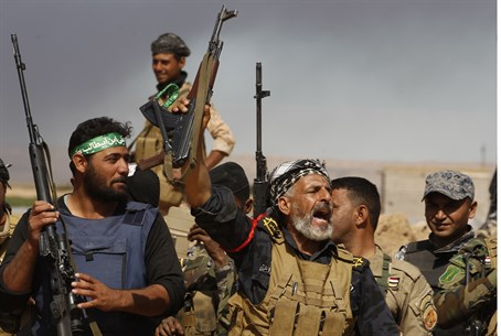 Shia militiamen in Iraq