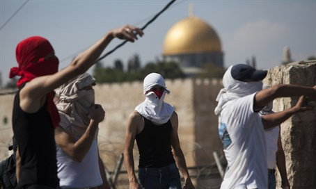 Arab rioters in Jerusalem (file)