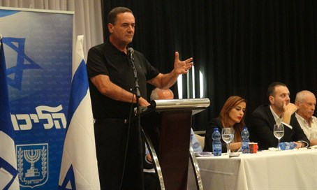 Minister Yisrael Katz at the Likud convention