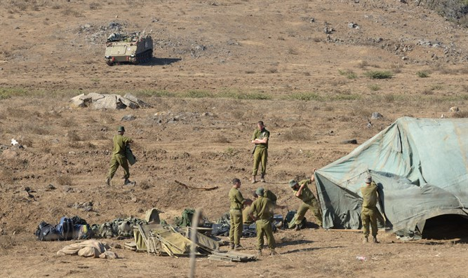 IDF soldiers in Golan Heights