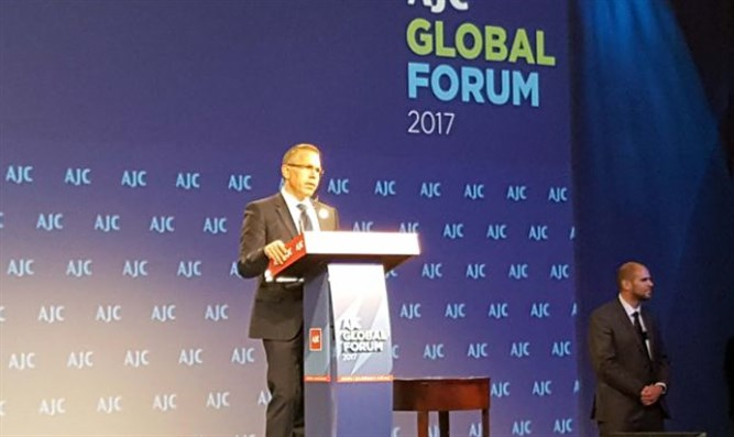 Erdan at AJC Global Forum