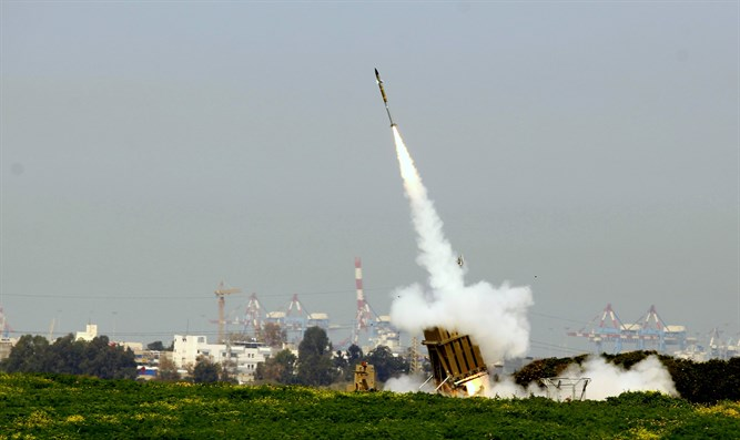Iron Dome employed against Gaza rocket