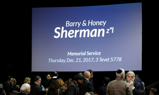 Memorial service for Barry and Honey Sherman