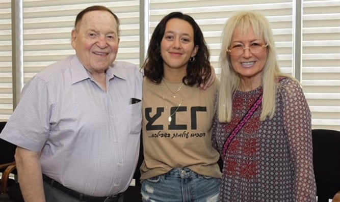 Shira Lukatz with her grandmother and step-grandfather