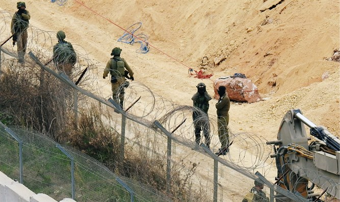IDF forces on Lebanon border