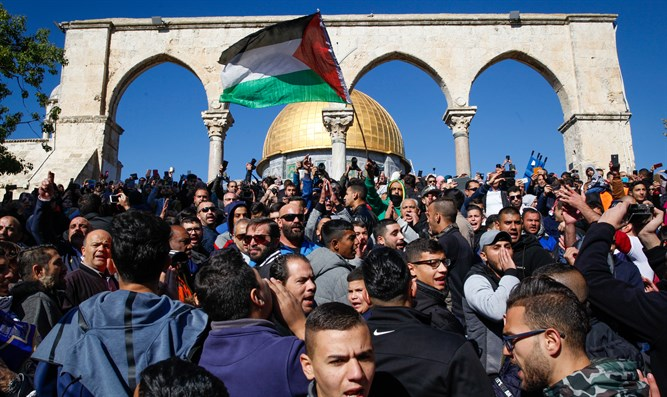 Muslim protest on the Temple Mount
