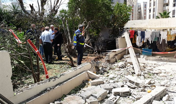 Ashkelon house struck by rocket from Gaza