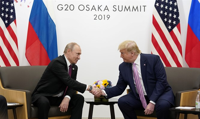 Donald Trump meets Vladimir Putin in Osaka, Japan