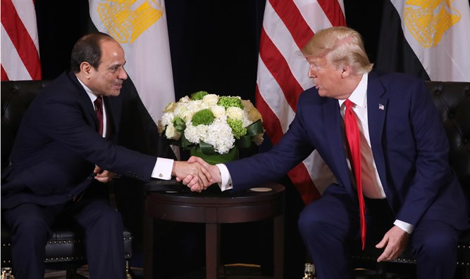 Abdel Fattah Al-Sisi and Donald Trump