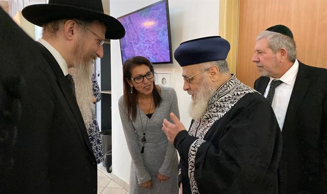 Rabbi Yosef and Rabbi Lazar with Yaffa Issachar