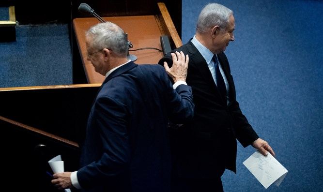 Netanyahu & Gantz - going their separate ways?