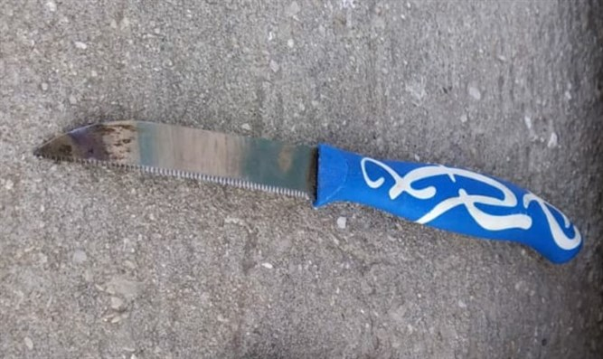 The knife used by the terrorist in the attempted stabbing
