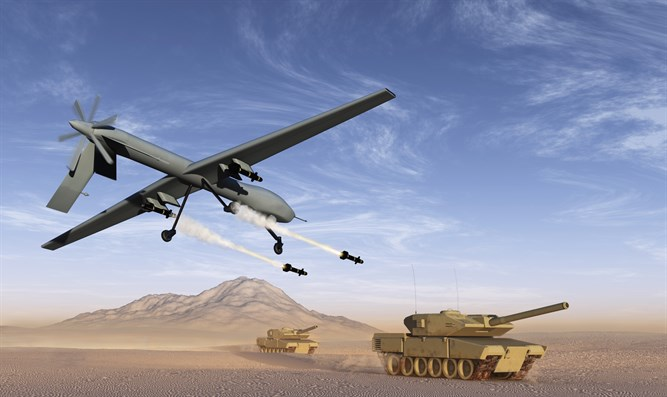 (drone attack (illustration